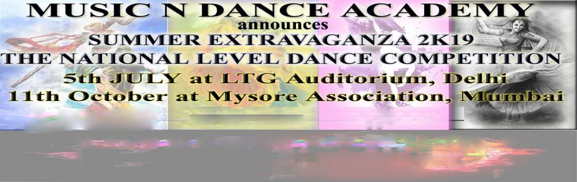 <h2>Summer Extravaganza 2k19 The National Level Dance Competition</h2>