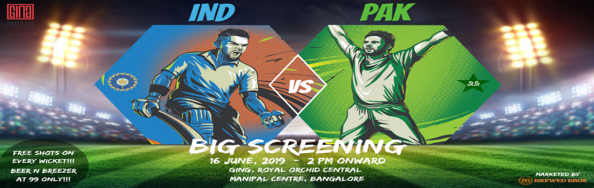 <h2>Bleed Blue - India Vs Pakistan at Royal Orchid Central</h2>