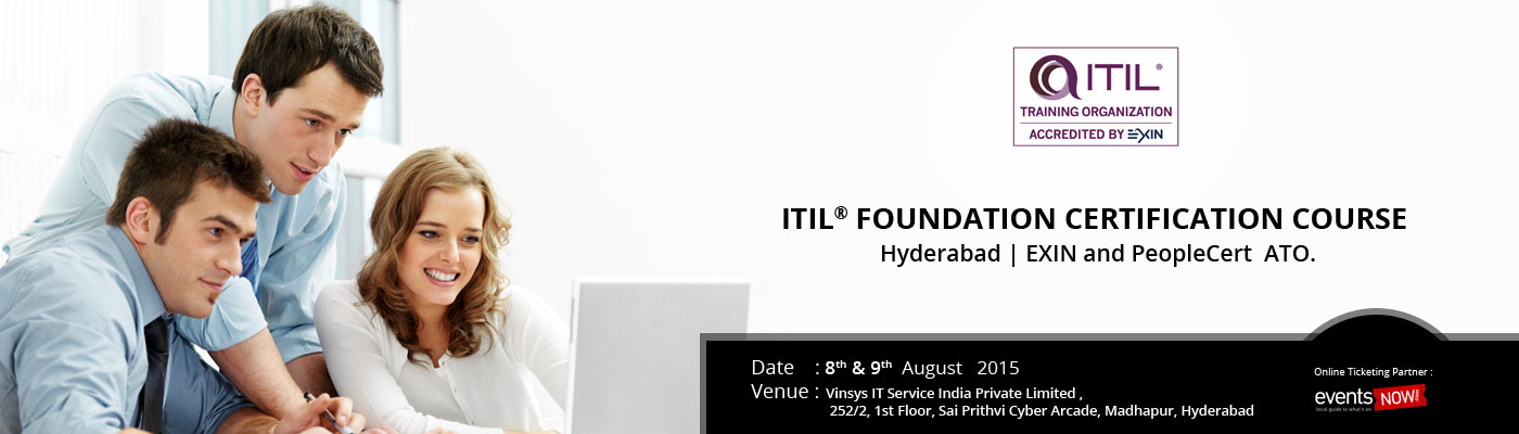 Itil Foundation Certification Training Hyderabad Exin And