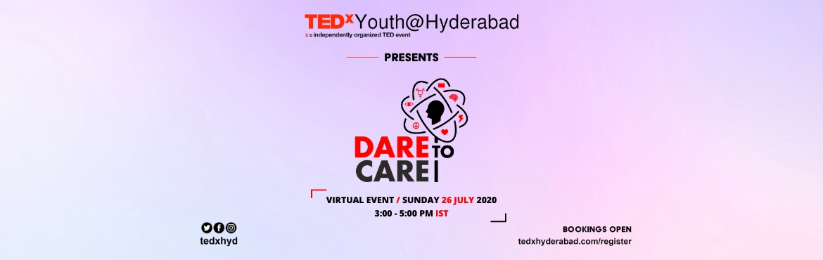 <h2>TEDxYouth@Hyderabad 2020 - Dare to Care </h2>