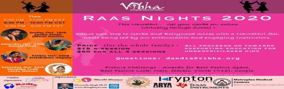 <h2>Vibha Garba Raas Night 2020</h2>