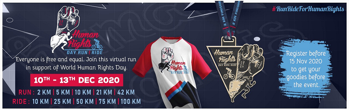 <h2>Human Rights Day Run - Ride</h2>