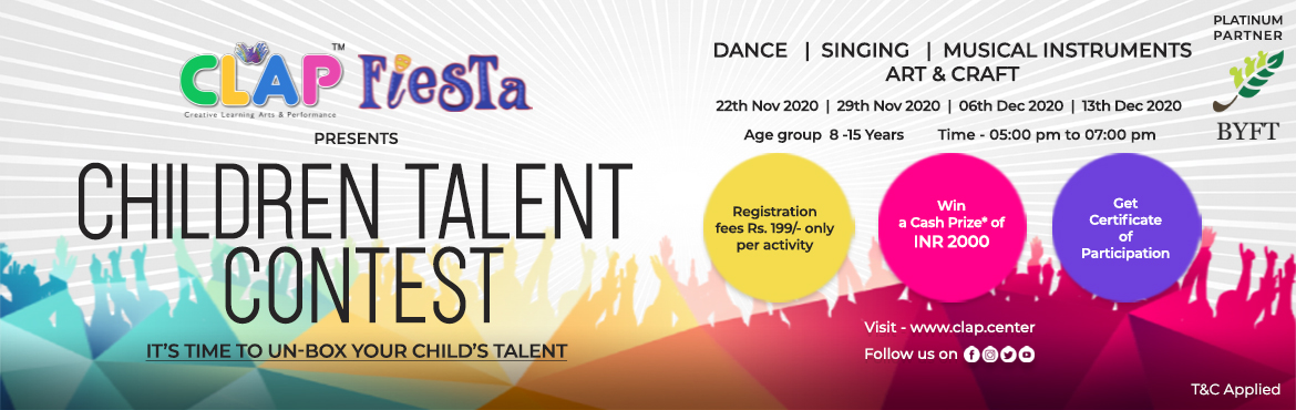 <h2>CLAP Fiesta presents Children Talent Contest </h2>