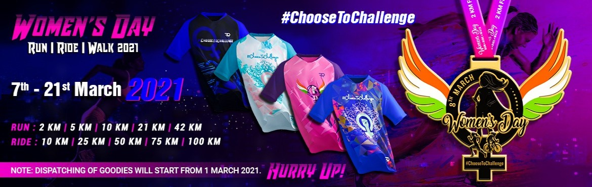 <h2>Womens Day Run - Ride - Walk 2021</h2>
